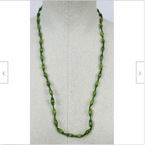 Green Beaded Necklace Accessories Fashion Jewelry